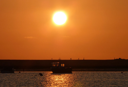 Keyhaven harbour sunset