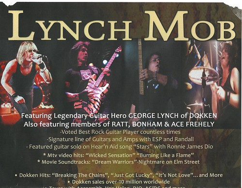 11-20-11 Lynch Mob @ Neisen's, Savage, MN (Poster - Top)