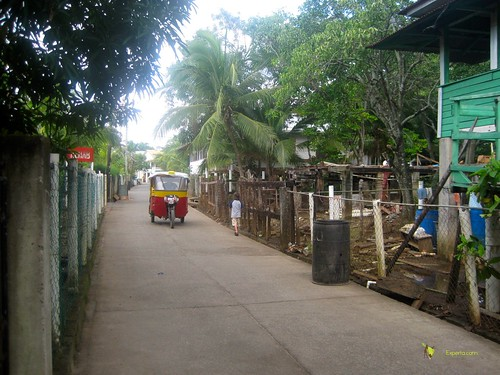 Tuk Tuk Taxi on Utila Honduras