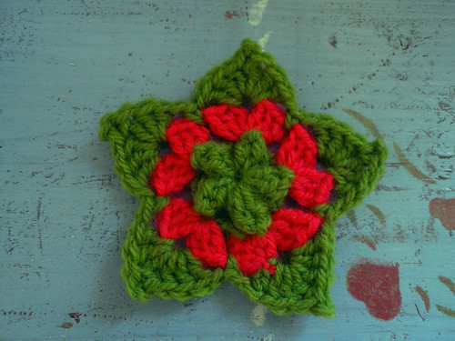 Puff st crochet star