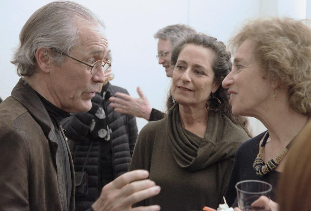 Willam Pedersen with Linda Engelhardt and Laurie Heitner.