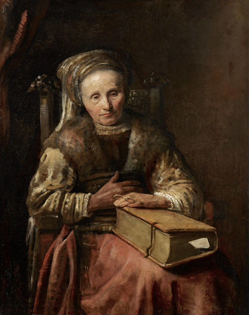 Carel van der Pluym - Old Woman with a Book. mid-1650s