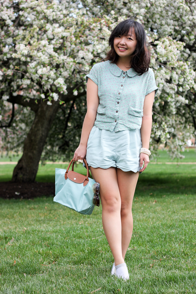 all mint green outfit