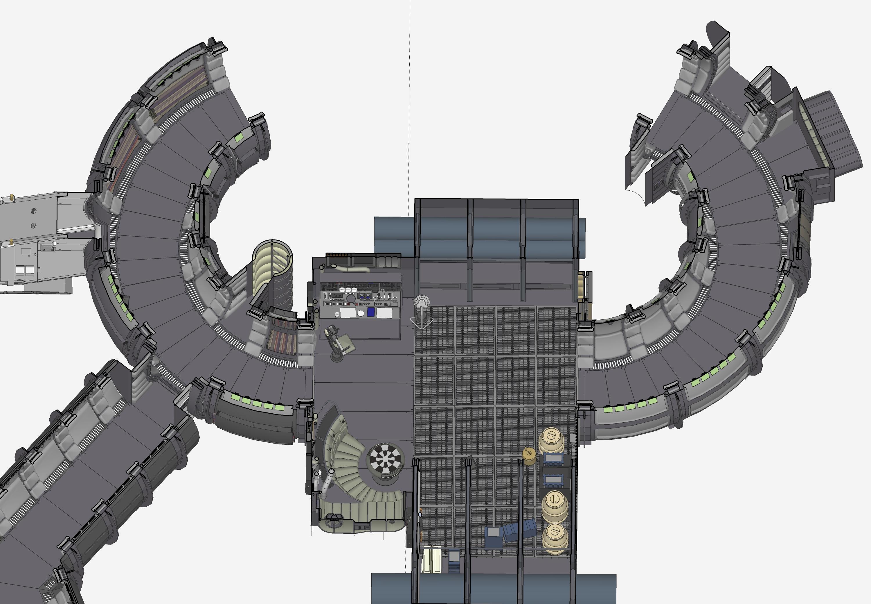 Star Wars Floor Plans Screen Accurate Millennium Falcon Cockpit Cg Model