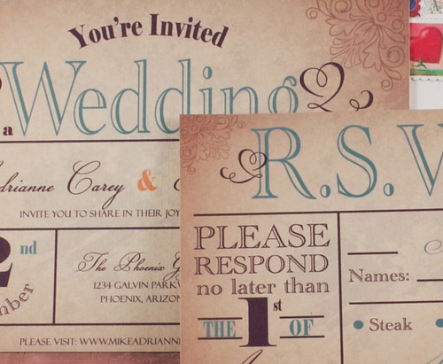 Old World Country Wedding Invitation by CottontailDigitalPress