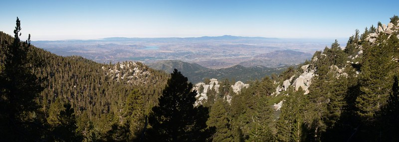 Panorama view west from the Deer Springs Trail just below Little Round Valley
