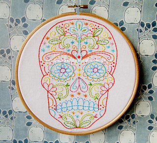 Calavera embroidery pattern