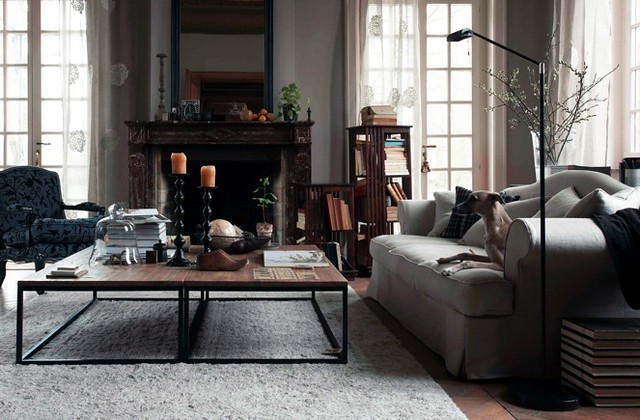 ... industrial rustic traditional eclectic modern living room}  Flickr