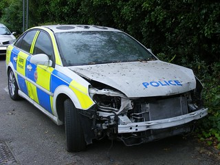 1317 - GMP - Greater Manchester Police - Vauxhall Vectra V6 Turbo - MX06 CWU - RPU - RTC Damage