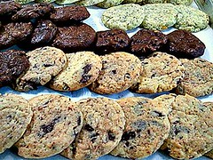 chocolate chip cookie, whole grain, oatmeal-raisin cookies, baked goods, cookies and crackers, food, dessert, cookie, snack food,