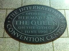 Photo of International Convention Centre, Birmingham black plaque