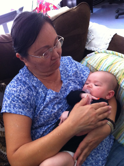 Grandma with Sleeping Vinny