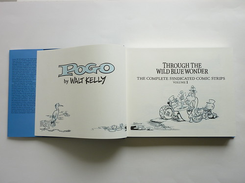 "Pogo - Vol. 1 of the Complete Syndicated Comic Strips: ""Through the Wild Blue Wonder"" by Walt Kelly - title pages"