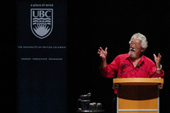 David Suzuki speaks at UBC