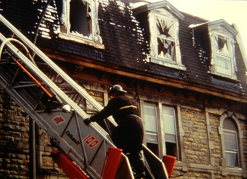 Fireman up the ladder