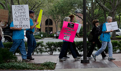 Occupy St Pete march through downtown St Pete, No. 1 by Fifth World Art