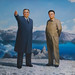 Kim Il-sung and his son Kim Jong-il by Rita Willaert