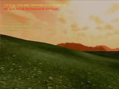 Gambar 34.9a Screenshot terrain tanpa manipulasi warna