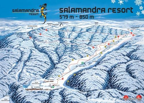 Salamandra resort - mapa sjezdovek