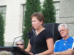 Dr. Amanda McKinney at Lincoln rally