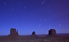 Monument Valley star trail