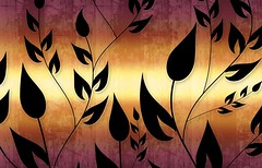 Climbing Vines Wallpapers in Bright Orange Auburn by BackgroundsEtc