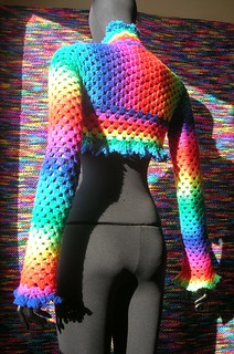 Rainbow Crochet Shrug