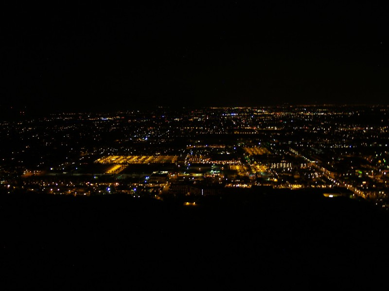 Skyline Trail 900ft - Night Photo - Lights of Palm Springs