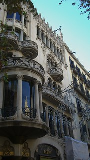 狮子与桑树之家 的形象. barcelona windows building architecture curved
