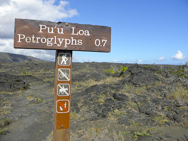 Pu'u Loa Petroglyphs at Hawaii Volcanoes National Park