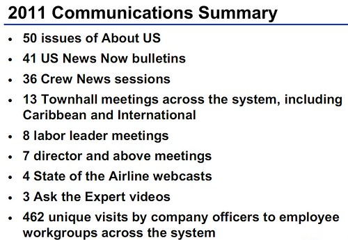 US Airways Communications Efforts