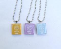 Iron Craft - PEEP (scrabble tile necklace)