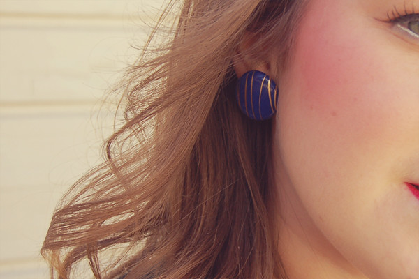 Wardrobe Block : blue gold round earrings topshop freedom
