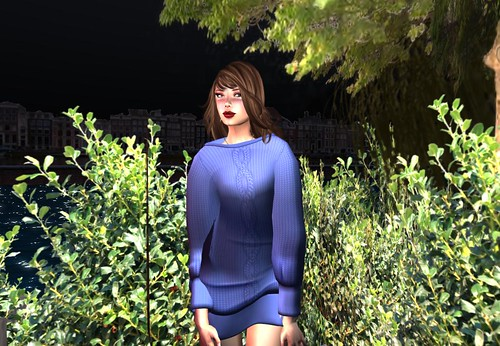 Ero Rabbi---Doman Sleeve Knitting Dress - Ultramarine (free) by Cherokeeh Asteria