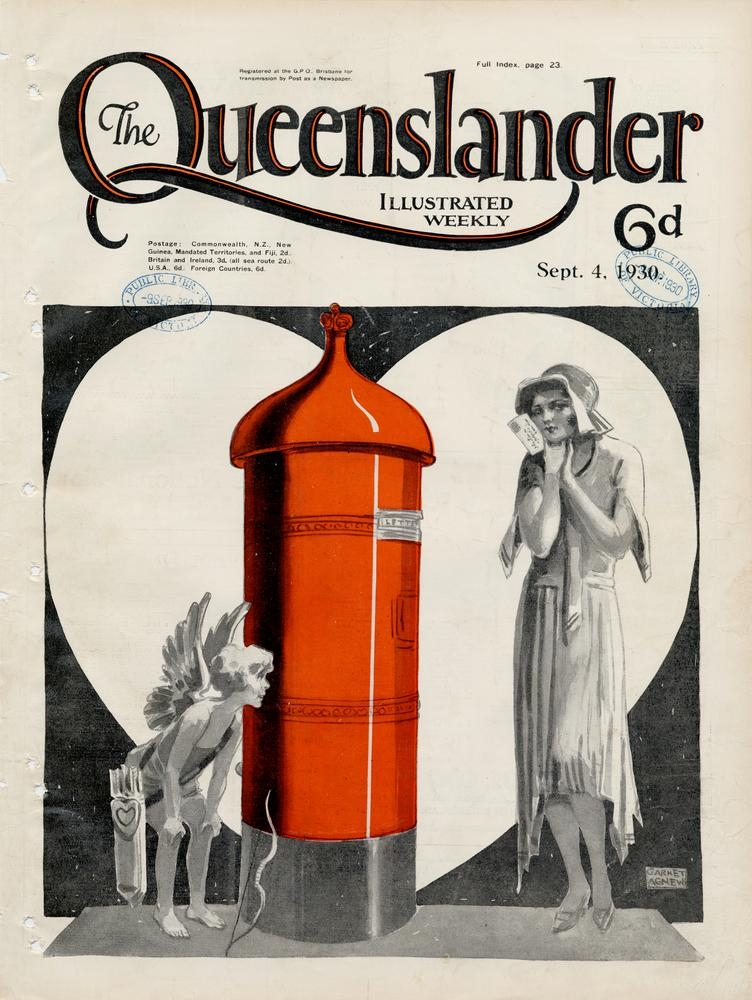 Illustrated front cover from The Queenslander, September 4, 1930