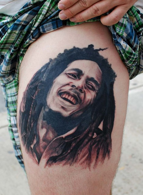 Bob Marley tattoo by Chris Carter ihearttattoo studios
