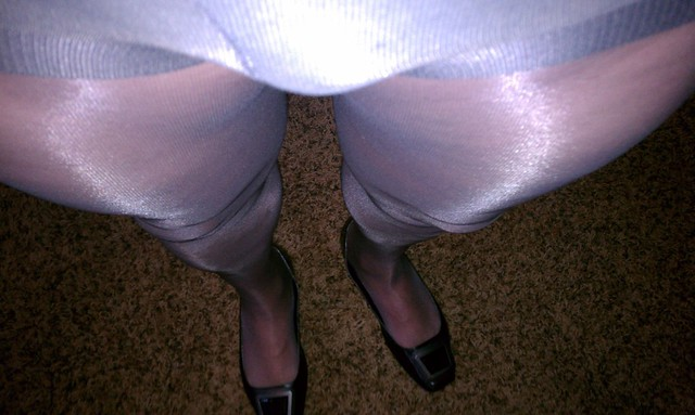 Silken mist pantyhose, home made sexs