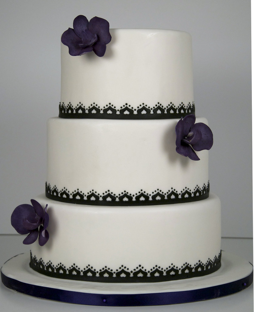 simple black and white wedding cakes w9029 simple black white wedding cake toronto a photo 19931