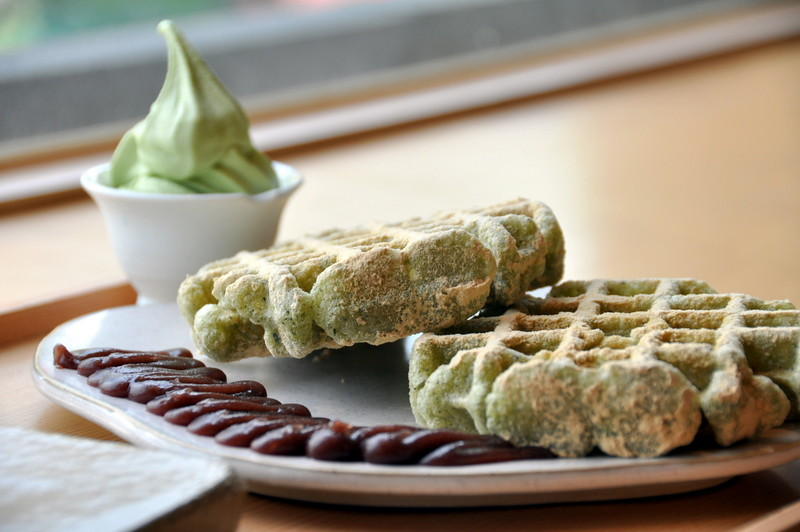 Green Tea Rice Waffles