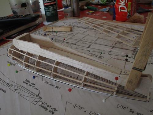 Underside of me163 fuselage