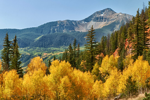 Fall color in the scenic San Juan Mountains... Colorado