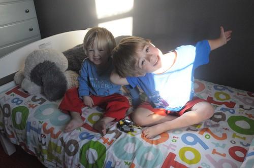 kids in shared bedroom