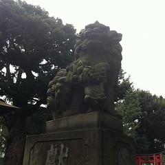 狛犬探訪 大森山王権現 子取り玉取り 大正12年6月の銘