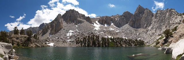 Heart Lake panorama from the shore