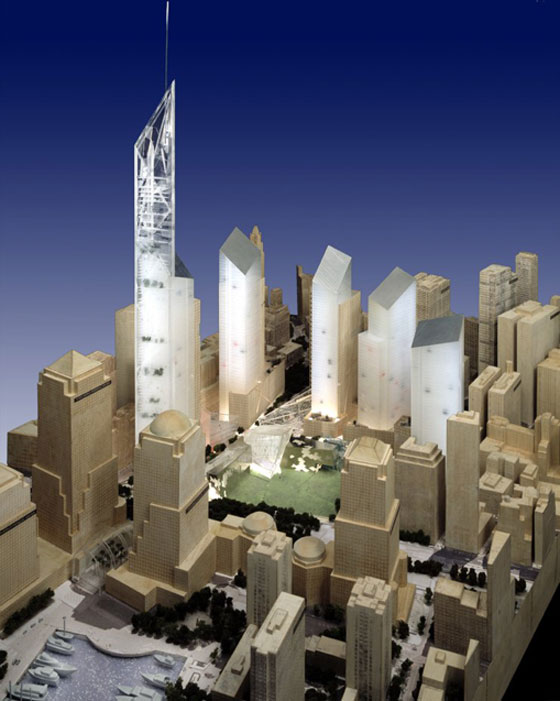 Ground Zero Master Plan by Studio Daniel Libeskind. Photo: J Poddle