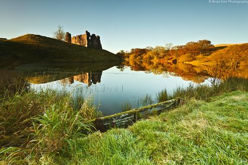 autumn castle landscape loch dumfriesandgalloway thornhill mortoncastle