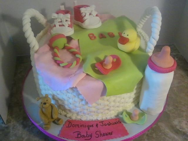 basket baby shower cake flickr photo sharing