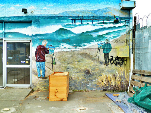 street sea newzealand christchurch streetart st painting pier mural canterbury artists nz southisland newbrighton hawke