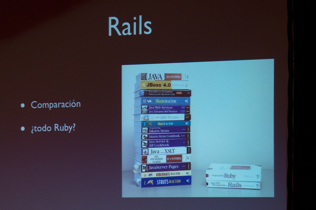 Ruby/Rails vs Java/ | RubyConfUY 2011 | Andrés Moreira | Flickr