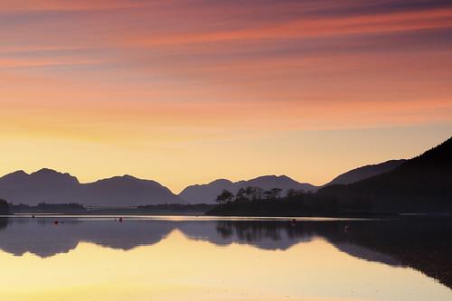 bridge trees sunset landscape scotland highlands glencoe loch lochleven ballachulishbridge gnd075he sigma2470ƒ28exdg